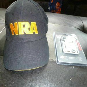 NRA Black & Gold Embroidered Adjustable Hat